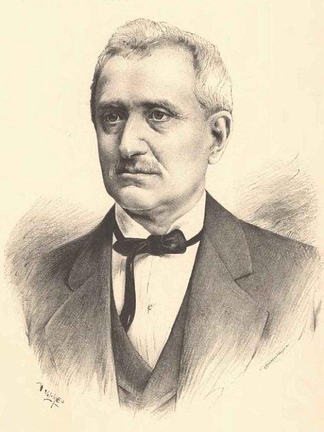 Portrét vlastence a poslance Jana Nepomuka Krouského od J. Vilímka.