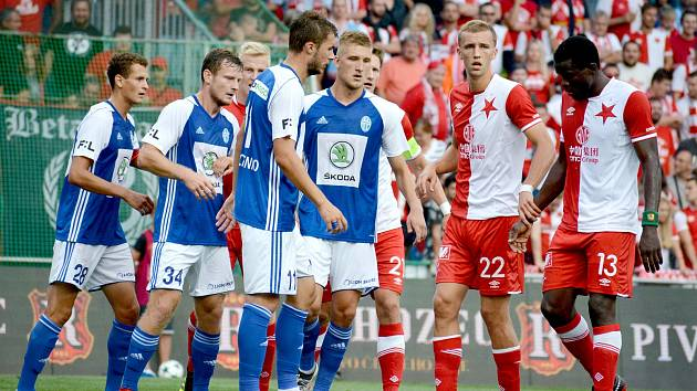 Fotbalisté Mladé Boleslavi hrají na Slavii.