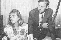 Moderátor Luboš Dvořák v rozhovoru s Květoslavou Ječnou vyprávěl před 20 lety o svých hereckých začátcích v Dobrovici pod vedením pana Dytrycha i o práci programového ředitele rádia Jizera.