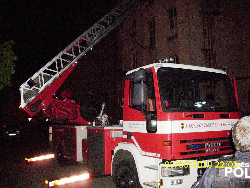 Zásah hasičů v kasárnách v Mladé Boleslavi.