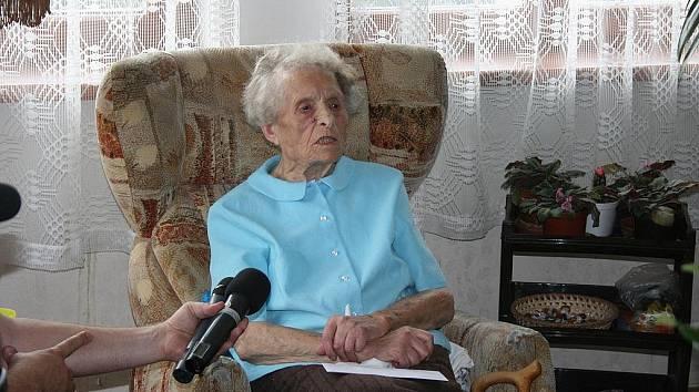 Marie Bachová oslaví 104 let.