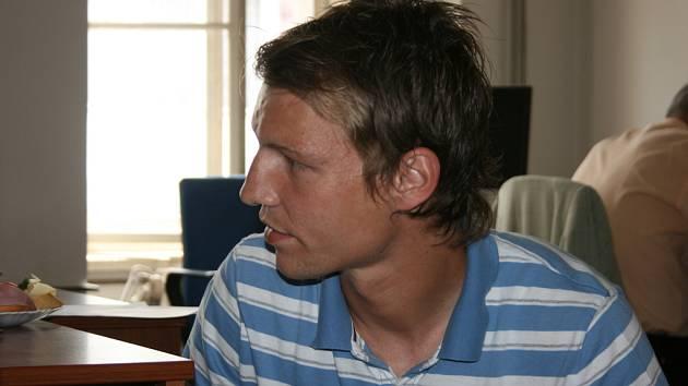 Jan Rajnoch v redakci Boleslavského deníku