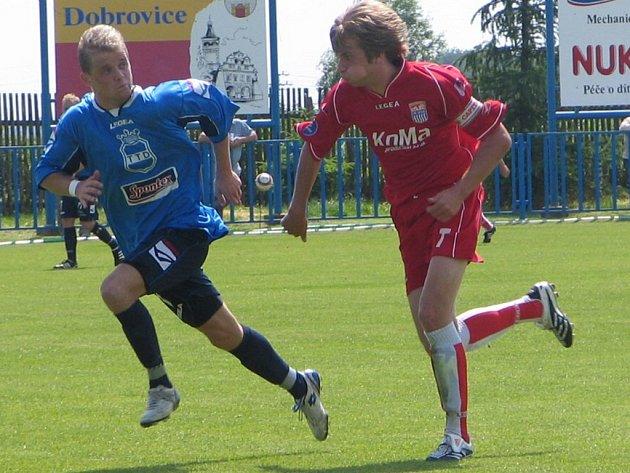 David Boško (vlevo) zaznamenal proti Předměřicím hat-trick