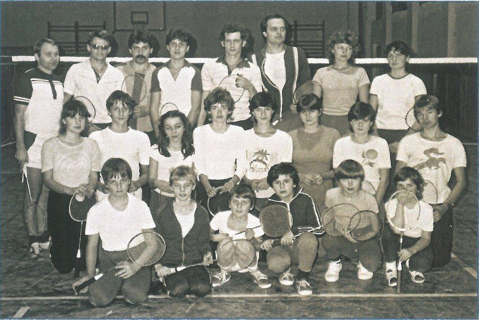 Sezóna badmintonového klubu v Benátkách v letech 1982-1983.