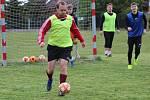 Trénink fotbalistů FC Sporting Mladá Boleslav na Bradleci