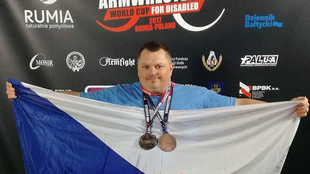 Lukáš Práchenský si ze světového šampionátu z Polska přivezl dvě medaile.