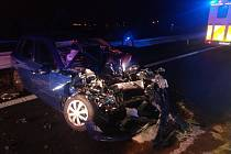 Ke dvěma nehodám jen pár metrů od sebe došlo na dálnici D10 ve směru do Turnova.