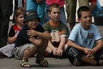 Před Olympia centrem to vřelo, děti se vyřádily!