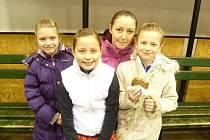 Zleva: Anna Hulínová, Tereza Andělová, Eva Bendová a Soňa Řehořková