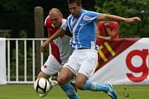 Souboj boleslavského Michala Smejkala se slávistou Martinem Latkou. Prvně jmenovaný nakonec rozhodl neproměněnou penaltou o postupu Slavie do finále.