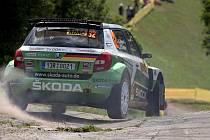 Sepp Wiegand je spokojený s třetím místem na úvod německé rally ;
