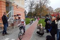 Slavnostní otevření Vlkavské dopravní cyklostezky.