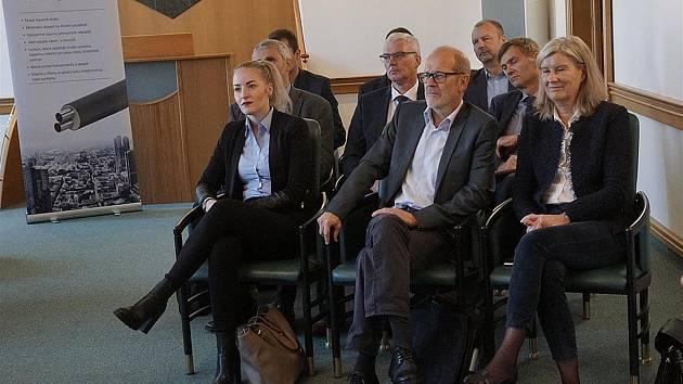 Dánská delegace na radnici v Mladé Boleslavi
