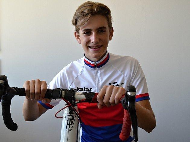 David Šulc z mladoboleslavského cyklistického týmu Ivar CS Author Teamu.