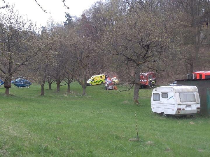 Zásah záchranářů v obci Boseň.