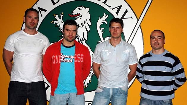 Zleva Marek Posmyk, Martin Štrba, Roman Tomas a Vladislav Kubeš
