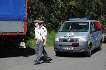 Policejní kontrola u Mladé Boleslavi.