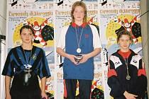 Kristýna Pažoutová (uprostřed) zářila na závodech v Brně.