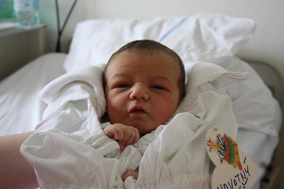 Domů do Loučeně si Kateřina a Antonín Novotní z boleslavské porodnice přivezou syna Tomáška. Tomášek se narodil 5. května s váhou 3,1 kg a délkou 50 cm.