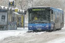Sníh zasypal Mladoboleslavsko