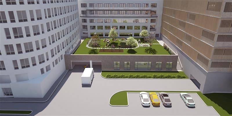 Vizualizace nového stravovacího provozu Klaudiánovy nemocnice.