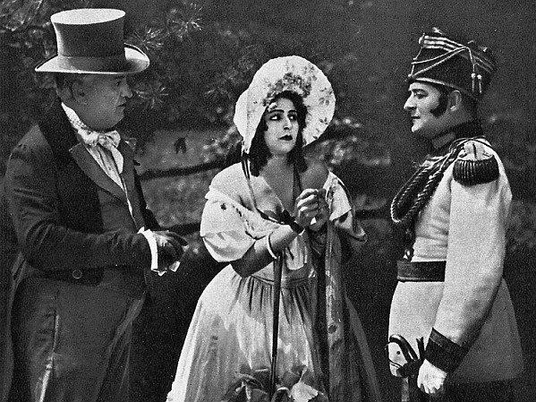 Melodrama Jindra, hraběnka Ostrovínová.
