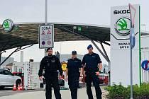 Polští policisté jsou v Mladé Boleslavi