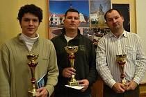 Trio nejlepších hráčů z osmého Dobrovického rapidu.