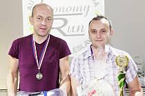 Vítězná posádka - navigátor Petr Šíma a řidič Jiří Pilný.