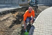 Rekonstrukce silničního povrchu na Ptácké ulici v Mladé Boleslavi.