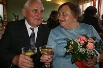 Josef a Jaroslava Cidlinovi z Holých vrchů oslavili diamantovou svatbu.