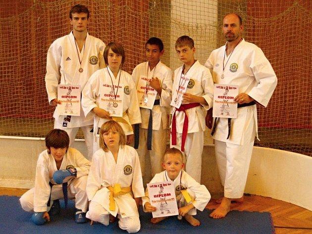 Boleslavští na krajských přeborech v karate