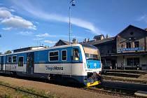 Regionova ve stanici Mladá Boleslav hlavní nádraží.