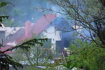Požár domu v Hrdlořezech