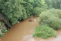 Velká voda u Loukova.
