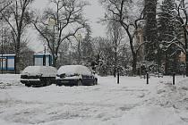 Mladá Boleslav pod sněhem.