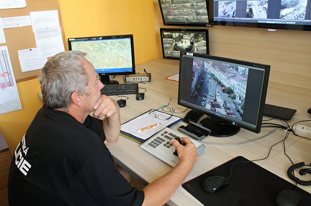 Služebna Městské policie Mladá Boleslav, kamerový systém.
