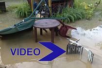 Zaplavený pozemek v Dolním Cetně.