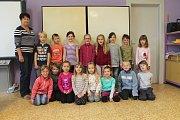 Žáci 1.třídy ZŠ Dolní Slivno, třídní učitelka Jarmila Čapková