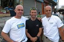 Petr Mašek (vlevo), Honza Trávníček a Radek Jaroš ve Scardu