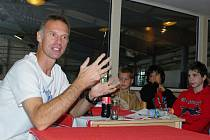 Dominik Hašek na kempu v Benátkách