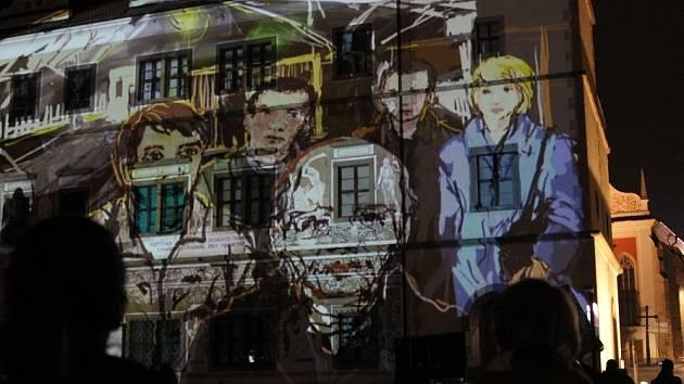 Festival Jeden svět zahájil unikátní videomapping, oživil budovu staré radnice