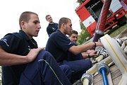 Sbor dobrovolných hasičů Dobšín - Kamenice, trénink.