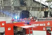 Požár ve firmě v Kněžmostě na Mladoboleslavsku.