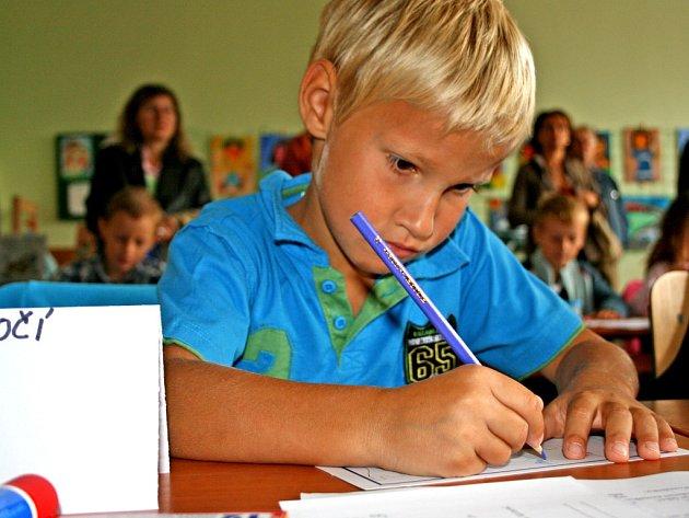 Prvňáčci se do školy většinou těšili.