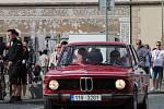 Start první etapy Oldtimer Bohemia Rally na Staroměstském náměstí v Mladé Boleslavi.
