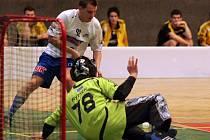 Ani v této chvíli boleslavský útočník Fojta na střešovického gólmana nevyzrál.