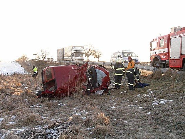 Vážná dopravní nehoda u Dobré Vody u Mnichova Hradiště