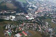 Požár zachvátil mladoboleslavskou Akumu.