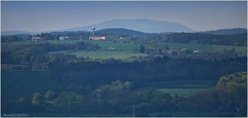 Buková hora u Ústí nad Labem s TV vysílačem